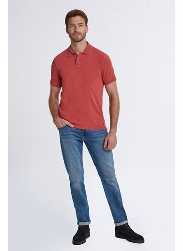 Hemington Vintage Görünümlü Kırmızı Polo Yaka T-Shirt Kırmızı